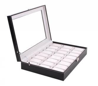 Kotak Kulit PU Untuk Simpan 24 Jam Tangan