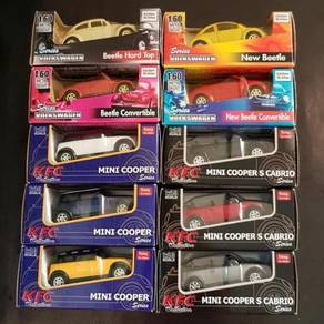 Volkswagen VS Mini Cooper Cars Beetle Collectibles
