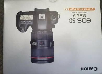 Canon EOS 5D Mark IV camera (Body and Lens 24-105m