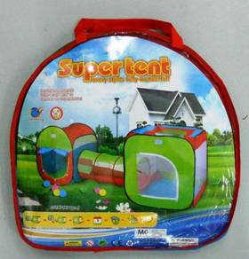 Super tent - play tent for kids - 2 tents 1 tunnel