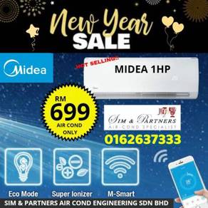 New midea aircond 1hp */best promo 699 hurry up