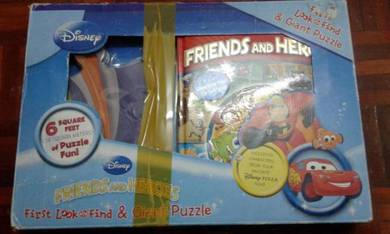 Disney friends and heroes first look and puzzle