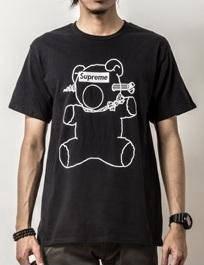 Japanese Supreme Bear Short Sleeve T-Shirt (BLACK