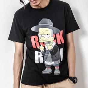 ROCK & ROLL OVERDOSE Black Short Sleeved T-Shirt