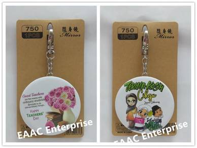 Hadiah Hari Guru Teacher's Day Key Chain Mirror