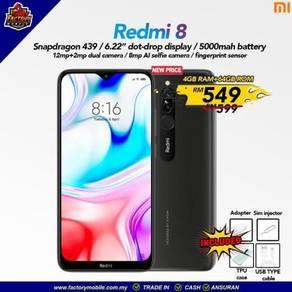 Diskaun Xiaomi Redmi 8 [4+64] malaysia set