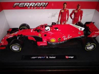 Bburago Ferrari SF71H Sebastian Vettel 2018 1/18