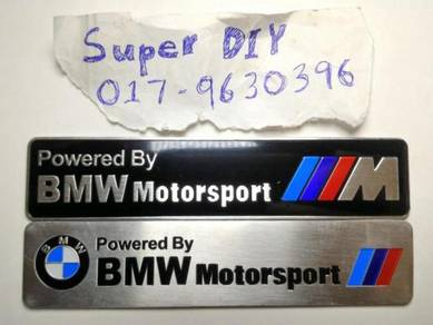 BMW Motorsport motor exhaust aluminium sticker