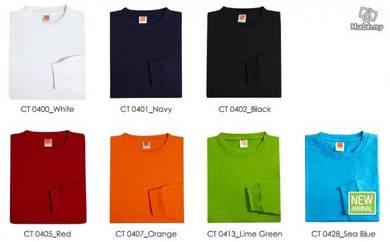 T Shirt Round Neck Stndrd Cotton Plain Long CT04XX