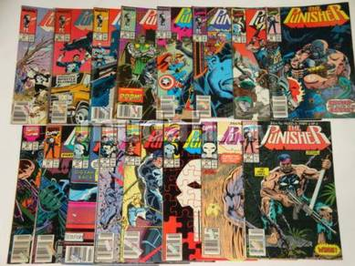 The Punisher 1987 series comics. 1SET
