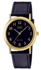 Watch - Casio Men Leather MTP1095-1B - ORIGINAL