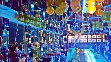 Private Club Party Balloon Deco 00586