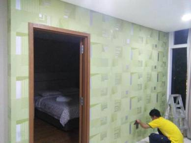 UPAH PASANGKAN WALLPAPER l kertas dinding