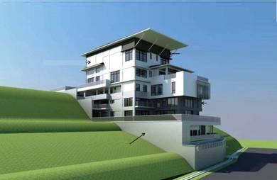 8 storey uncomplete Bungalow House Bukit Pantai, Bangsar, KL