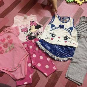 Combo Set Baju Baby Girl 0-6 Bulan