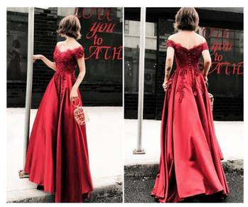 Red wedding evening prom dress gown RBP1335