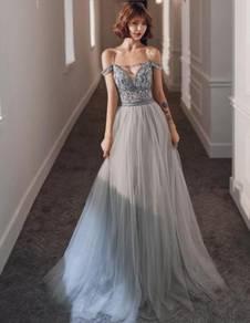 Grey wedding evening prom dress gown RBP1333