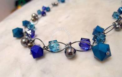 Turquoise and Blue Colour Necklace - New