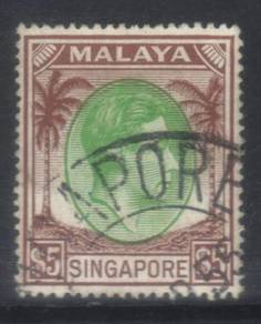 Singapore 1948 defins sg15 used cat 8 bl560