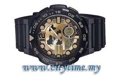 Casio World Time 10 Years Batt. Watch AEQ-100BW-9A