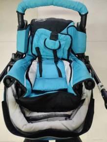 Preloved My Dear Baby Stroller Blue Good Condition
