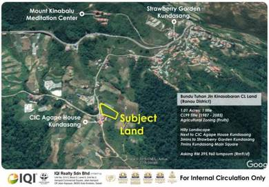Bundu Tuhan Jalan Kinasabaran CL Land (Ranau District) For Sale