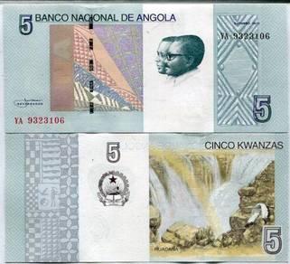 Angola 5 kwanzas 2017 p new unc