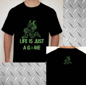 RAZER life just like a game tshirt
