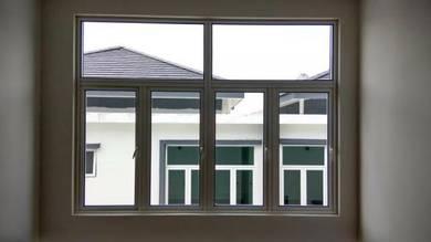 Powder Coated Casement Clear Glass Window Top