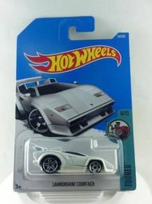 Hotwheels Tooned Lamborghini Countach #6 White