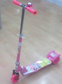Scooter BIG toys mainan kanak2 pink princess