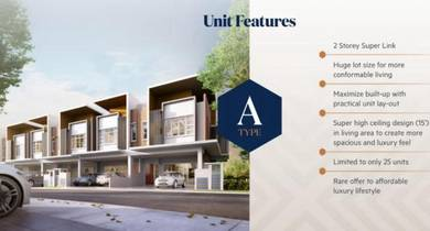 KAJANG Superlink Double Storey with Clubhouse and Lanscaping