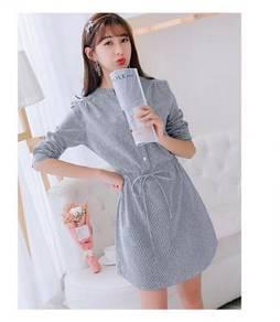 Long Sleeve Plus Size Women Dress (170903-089RX-S
