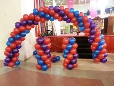 229) Arch Balloon Set 50pcs Helium