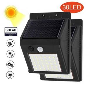 2 x Split LED Solar Light PIR Sensor Lamp 3 Mode
