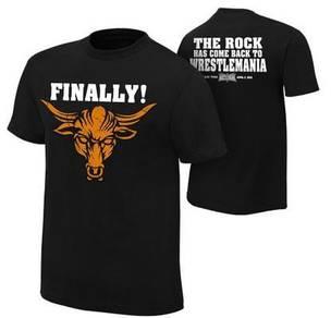 WWE WWF T Shirt (The Rock Finally WrestleMania)
