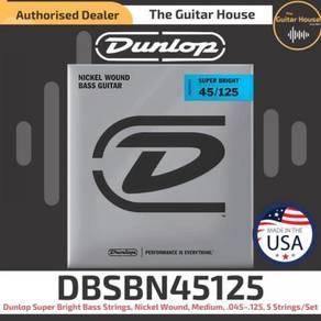 Dunlop DBSBN45125 Super Bright Bass Strings 45-125
