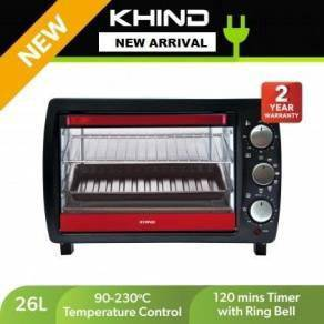 Khind OT26 Electric Oven 26L With 2 Baking Tray