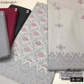 Kain Cotton Songket Printed SB-05C, 08C