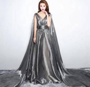 Grey wedding bridesmaid dinner prom dress RBP0391