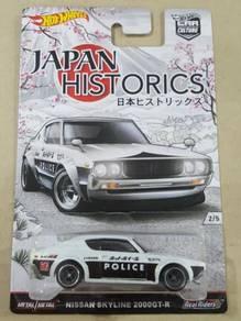HotWheels Japan Historics Nissan Skyline Kenmeri