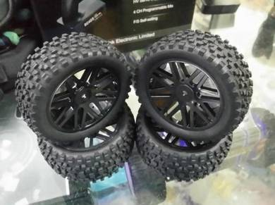 Hsp 1.10 Rc Buggy Tyre Set Black Color