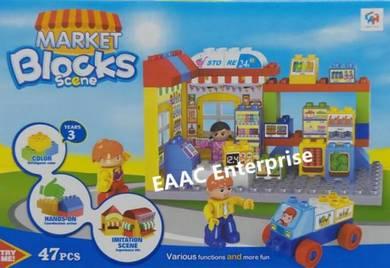 Market Block Scene Lego Building Block Bricks