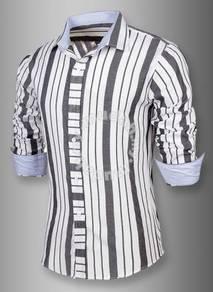 Korean stylish multi-lined colors stripe shirt