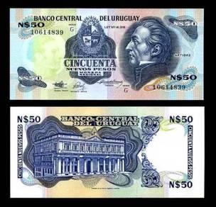 Uruguay 50 peso 1989 p 61a unc