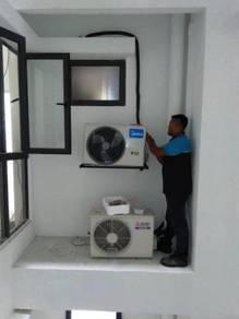 Midea 1.5hp wall mounted air cond Setia Alam