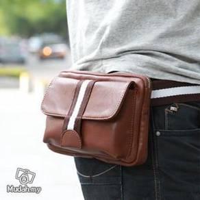 BG04 Multi-purpose Pouch Chest Waist Bag (Brown)