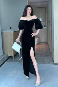 Black sexy evening prom dress gown RBP1341