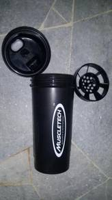 Muscletech Protein gym shaker/botol Protein jaring