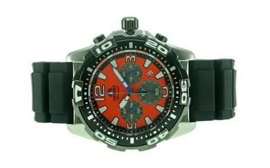 ORIENT Men Chronograph Rubber Watch FTW05005M